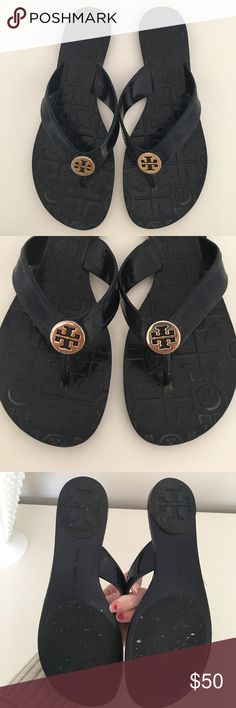 Tory flip flops Navy blue. Size 6. Tory Burch Shoes Sandals