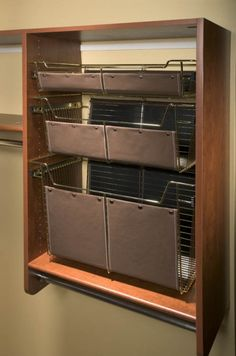 Baskets And Liners   Options For Your Closet   Inspiration California  Closets DFW