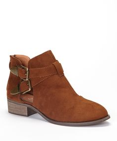 Cognac Jennifer Ankle Boot | Daily deals for moms, babies and kids