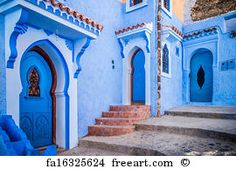 Free art print of Chefchaouen, Morocco. The beautiful blue medina of Chefchaouen in Morocco Moroccan Colors, Moroccan Style, Moroccan Blue, Affordable Vacations, Blue City, Free Art Prints, Morocco Travel, Visit Morocco, Blue Dream