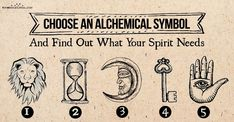 Choose an Alchemical Symbol – Find Out what Your Spirit Thirsts for Choose an Alchemical Symbol – See what Your Soul Needs