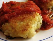 Risotto Cakes with Tomato Sauce