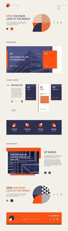 02深蓝色调@_Blame~怪采集到Web_网页设计(753图)_花瓣 Creative Web Design, Ux Design, Layout Design, House Design, Mars And Earth, Event Banner, Web Layout, Type Setting, Website