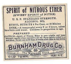 Items similar to Vintage Pharmacy Medicine Label Spirit of Nitrous Ether Burnham Drug Co, on Etsy Steampunk Coffee, Old Medicine Bottles, Vintage Medical, Peace Of Mind, Pharmacy, Ethereal, Feel Good, Drugs, Alcohol
