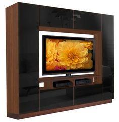 "96.25″W x 19.25″D x 84.75″H TV Cavity:  Open Back - 64.5"" W x 41.5"" H x 17"" D  Mounting Panel - 53"" W x 36"" H x 4"" D Alexander+Entertainment+Center+-+A+Modern,+Minimalist+Favorite"