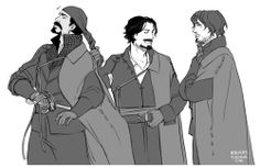 The Musketeers - Porthos, Aramis & Athos fan art, hahaha that's neat!