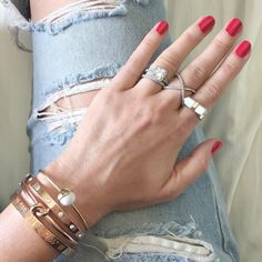 red + nails