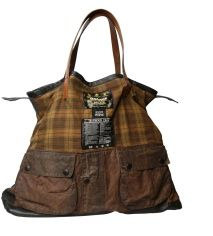SilentPeople Tasche aus einer Barbour Jacke