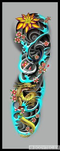 With koi fish instead of a dragon. Dragon Japanese Tattoo, Japanese Tattoo Art, Japanese Tattoo Designs, Japanese Sleeve Tattoos, Forearm Tattoos, Body Art Tattoos, Tribal Tattoos, Future Tattoos, Tattoos For Guys