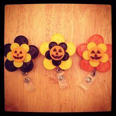 Flip Off Flower Badge-Holder. $5.00, via Etsy.
