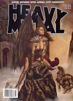 Heavy Metal is an adult science fiction and fantasy magazine, both contemporary and futuristic in theme. Experience the beautiful artwork featured in each issue. Heavy Metal Comic, Heavy Metal Art, Metal Magazine, Magazine Art, Magazine Covers, Metal Tree Wall Art, Metal Artwork, Power Metal, Rock Roll