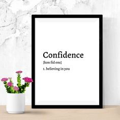 Definition of Confidence Happy For You Quotes, Decoration Table, Decor Diy, Room Decor, Be Yourself Quotes, Finding Yourself, Definition Of Self, Christian Posters, Self Esteem Quotes