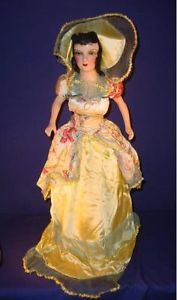 Antique-Boudoir-31-Doll-Taffeta-Satin-Dress