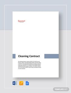 Cleaning Contract Template - Word (DOC) | Google Docs | Apple (MAC) Pages | Template.net Cleaning Contracts, House Cleaning Services, Cleaning Checklist, Restaurant Cleaning, Restaurant Names, Janitorial Cleaning Services, Maintenance Jobs, How To Improve Relationship, Checklist Template