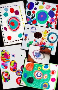What Can You Do With a Dot? a math-connected art lesson inspired by Wassily Kandinsky. Includes artist biography for kids and 'draw & write' student response worksheet.