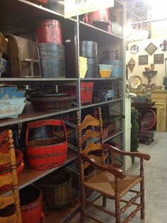 Vintage painted wood containers/home decor--yummy!
