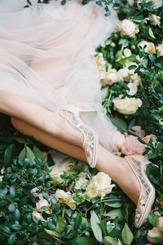 Translucent pumps are the new nude! We especially love these floral and cross-hatched heels from Bella Belle's 2017 Enchanted Spring collection! | Photography By: Kurt Boomer Photography | WedLuxe Magazine | #wedding #luxury #weddinginspiration #luxurywedding #fashion #bridal #footwear #shoes #bridalshoes