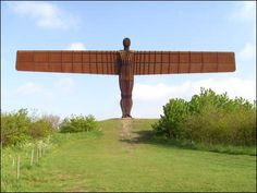 Angel of the North--I want to see this sooner rather than later, perhaps Anthony Caro, Sally Ann, Angel Of The North, I Believe In Angels, Antony Gormley, Outdoor Sculpture, Image Caption, Lightning Strikes, Best Artist