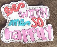 One Direction: Happily Lyrics Art!!