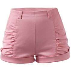 Pin Up Fashion Women Curvy Booty Shorts Pink 50's Style (€56) ❤ liked on Polyvore featuring shorts, bottoms, pants and pink