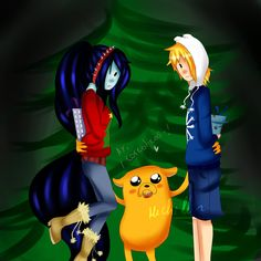 Fan Art of finnceline christmas for fans of FinnxMarceline 36366820 Adventure Time Marceline, Adventure Time Finn, Finn And Marceline, Shadow People, Finn The Human, Vampire Queen, Photo Picture Frames, Close My Eyes, Celestial