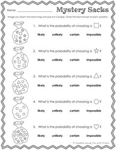 Fun With Firsties: Our Probability Unit: worksheets, activities, lessons, and assessment