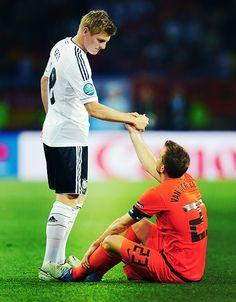 Toni Kroos, Germany NT, and Rafael Van der Vaart, Netherlands NT. #euro2012