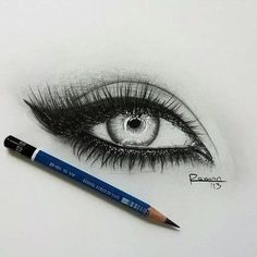 Amazing pencil drawing of an eye ♡