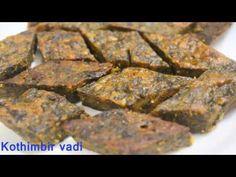 kothimbir vadi/Recipe in Marathi/monsoon special. - YouTube