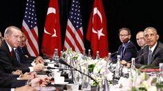 Erdogan Ingatkan Obama: Ente Jangan Pilah Pilih Teroris Semua Teroris Jahat Gak Ada Teroris Baik  [Turkish President Recep Tayyip Erdogan (L) and U.S. President Barack Obama (R) are seen during their meeting as the 11th G20 Leaders' Summit continues in Hangzhou China on September 04 2016. (Mehmet Ali Özcan - Anadolu Agency)]  [portalpiyungan.com] HANGZHOU CHINA - Presiden Turki Recep Tayyip Erdogan menyerukan kepada Presiden Amerika Serikat Barack Obama agar bersatu sikap melawan segala…