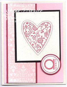 Valentines day card- tri fold swing card idea