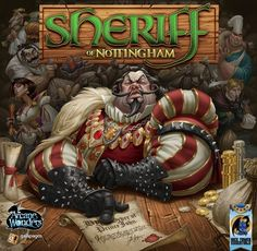 Box art for Sheriff of Nottingham game by ArcaneWonders. i will post up some more work i did for the game as well as some process shots and de. ArcaneWonders Sheriff of Nottingham Box Art Games Box, Dice Games, Games To Play, Card Games, Geek Games, Playing Games, Nottingham, Sheriff, Robin Hood