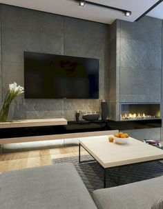 Elegant Tv Wall Decor Living Room Modern Luxury tv wall decor Beautiful living room in a modern luxury design with a nice Elegant Living Room, Beautiful Living Rooms, Living Room Modern, Living Room Designs, Modern Wall, Modern Tv, Small Living, Modern Contemporary, Fireplace Tv Wall
