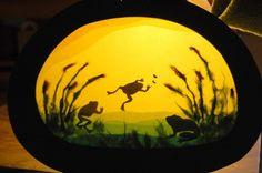 Frogs ... Steiner/Waldorf window transparency