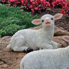 Yorkshire Lamb Garden Statue: Sitting Lamb $34.95