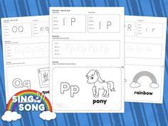 P Q R Alphabet worksheet