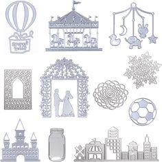 DIY Scrapbook Metal Cutting Dies Stencil Molds For Album Paper Card Diary Crafts #Unbranded