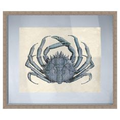 Framed giclee print featuring a crab.  Product: Framed printConstruction Material: Paper, glass, and polystyrene...
