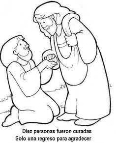 Lucas 17: 11-19   Iba Jesús camino de Jerusalén cuando entró en una pequeña aldea. A su encuentro salieron 10 hombres enfermos de l...