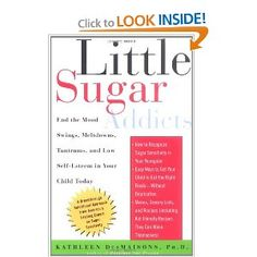 Little Sugar Addicts: End the Mood Swings, Meltdowns, Tantrums and Low Self-Esteem in Your Child Today by Kathleen DesMaisons.    I have been doing the steps from this book for about a month now and have really seen the results! It's about healing and not just eliminating. Food should not equal love especially sugar, people and relationships should have more value! :)