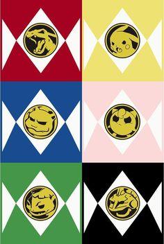 Awesome Power Rangers and Pokemon crossover! Geeks, Superman, Lucario Pokemon, Go Pokes, Go Go Power Rangers, Mighty Morphin Power Rangers, All Pokemon, Catch Em All, Digimon