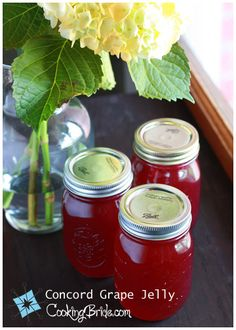 Concord grape jelly - CookingBride.com  For the grapes growing everywhere in my backyard! #homesteadwithhistory