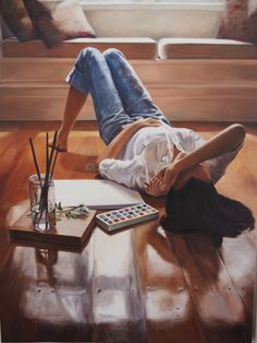 copyright Mia Laing 2014 oil on canvas - 'Reflection' Art Competitions, Australian Artists, Cool Paintings, Art Blog, Oil On Canvas, Reflection, Asia, My Arts, Paint Ideas