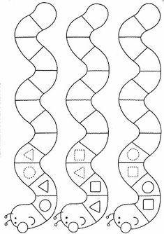 Geometric figures and patterns Preschool Learning Activities, Kindergarten Worksheets, Worksheets For Kids, Preschool Activities, Teaching Kids, Kids Learning, Maternelle Grande Section, Pattern Worksheet, Math Patterns