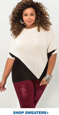 e15f2cbb2d7b3 Fall for these  Shop plus size sweaters. Plus Size Outfits