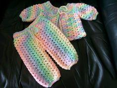 Crochet Baby Jacket & Pants free pattern: Craft Passions