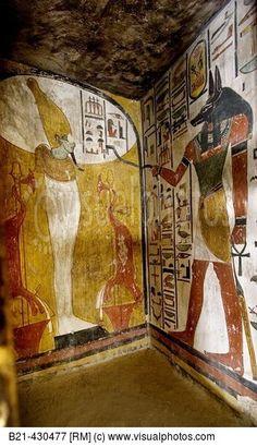 Wall paintings sennedjem 39 s tomb dayr al madinah egypt for Egyptian mural paintings