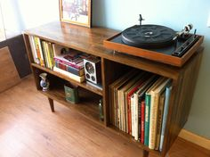 Danish Modern Inspired Credenza / Media Cabinet. $699.00, via Etsy. This would look good in the office...with a record player on it, too :D @Ricky K. Sanchez