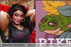That awkward moment when you realize who Deena from Jersey Shore reminds you of.