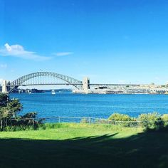 View from Goat Island Sydney looking at the harbour and Sydney Harbour Bridge #goatisland #sydney #australia #view #nsw #holidays #funholidays #sydneyharbourbridge #amazingadventures by i_wish_you_were_here_now http://ift.tt/1NRMbNv